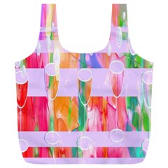 Watercolour Paint Dripping Ink Full Print Recycle Bags (l)