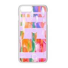 Watercolour Paint Dripping Ink Apple Iphone 8 Plus Seamless Case (white)