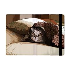 Cat Kitten Cute Pet Blanket Sweet Apple Ipad Mini Flip Case