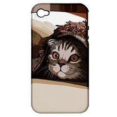 Cat Kitten Cute Pet Blanket Sweet Apple Iphone 4/4s Hardshell Case (pc+silicone)