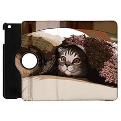 Cat Kitten Cute Pet Blanket Sweet Apple Ipad Mini Flip 360 Case
