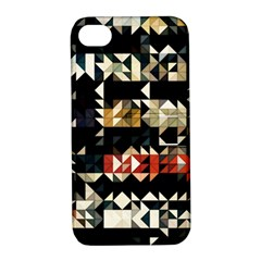 Art Design Color Banner Wallpaper Apple Iphone 4/4s Hardshell Case With Stand