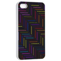 Lines Line Background Apple Iphone 4/4s Seamless Case (white)