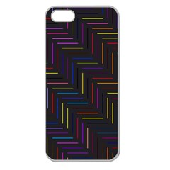 Lines Line Background Apple Seamless Iphone 5 Case (clear)
