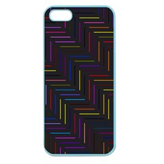 Lines Line Background Apple Seamless Iphone 5 Case (color)