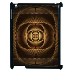 Fractal Copper Amber Abstract Apple Ipad 2 Case (black)
