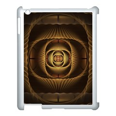 Fractal Copper Amber Abstract Apple Ipad 3/4 Case (white)