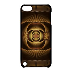 Fractal Copper Amber Abstract Apple Ipod Touch 5 Hardshell Case With Stand