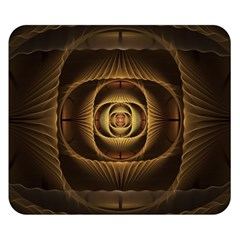 Fractal Copper Amber Abstract Double Sided Flano Blanket (small)