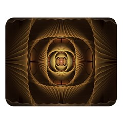 Fractal Copper Amber Abstract Double Sided Flano Blanket (large)