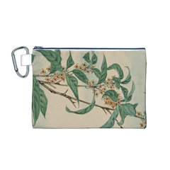 Vintage Watercolour Watercolor Canvas Cosmetic Bag (m)