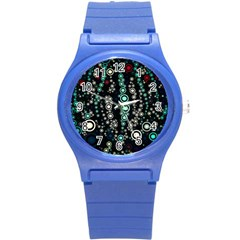 Modern Art Design Digital Round Plastic Sport Watch (s)