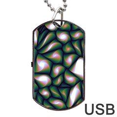 Fuzzy Abstract Art Urban Fragments Dog Tag Usb Flash (two Sides)