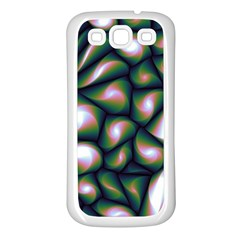 Fuzzy Abstract Art Urban Fragments Samsung Galaxy S3 Back Case (white)