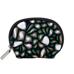 Fuzzy Abstract Art Urban Fragments Accessory Pouches (small)
