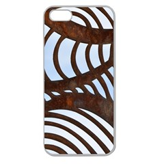 Grid Sky Pattern Blue Industrial Apple Seamless Iphone 5 Case (clear)