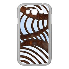 Grid Sky Pattern Blue Industrial Samsung Galaxy Grand Duos I9082 Case (white)