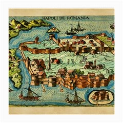 Medeival Ancient Map Fortress Medium Glasses Cloth (2 Side)