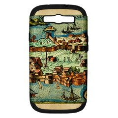 Medeival Ancient Map Fortress Samsung Galaxy S Iii Hardshell Case (pc+silicone)