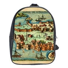 Medeival Ancient Map Fortress School Bag (xl)