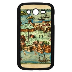 Medeival Ancient Map Fortress Samsung Galaxy Grand Duos I9082 Case (black)