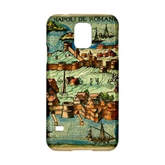 Medeival Ancient Map Fortress Samsung Galaxy S5 Hardshell Case