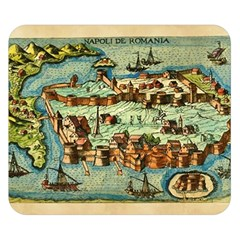 Medeival Ancient Map Fortress Double Sided Flano Blanket (small)
