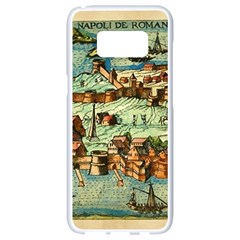 Medeival Ancient Map Fortress Samsung Galaxy S8 White Seamless Case