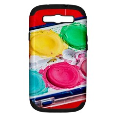 Palette Brush Paint Box Color Samsung Galaxy S Iii Hardshell Case (pc+silicone)