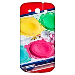 Palette Brush Paint Box Color Samsung Galaxy S3 S Iii Classic Hardshell Back Case