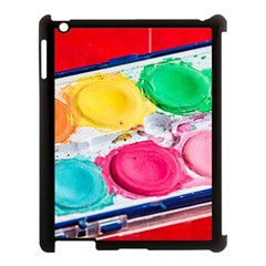 Palette Brush Paint Box Color Apple Ipad 3/4 Case (black)