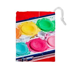 Palette Brush Paint Box Color Drawstring Pouches (large)