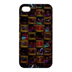 Kaleidoscope Pattern Abstract Art Apple Iphone 4/4s Premium Hardshell Case
