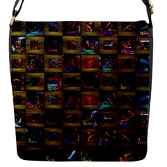Kaleidoscope Pattern Abstract Art Flap Messenger Bag (s)