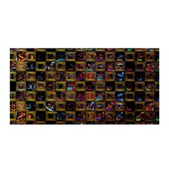 Kaleidoscope Pattern Abstract Art Satin Wrap