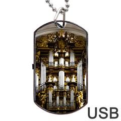 Organ Church Music Organ Whistle Dog Tag Usb Flash (one Side)