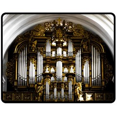 Organ Church Music Organ Whistle Double Sided Fleece Blanket (medium)