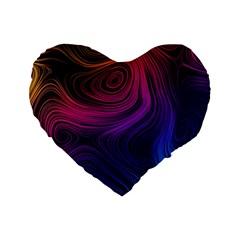 Abstract Pattern Art Wallpaper Standard 16  Premium Heart Shape Cushions
