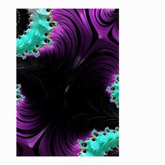 Fractals Spirals Black Colorful Small Garden Flag (two Sides)