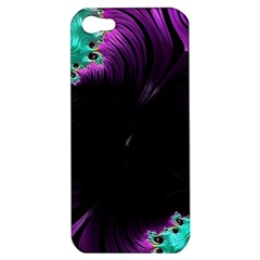 Fractals Spirals Black Colorful Apple Iphone 5 Hardshell Case