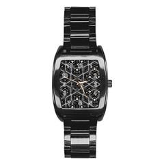 Design Art Pattern Decorative Stainless Steel Barrel Watch