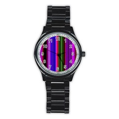 Abstract Background Pattern Textile 4 Stainless Steel Round Watch