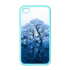 Nature Inspiration Trees Blue Apple Iphone 4 Case (color)