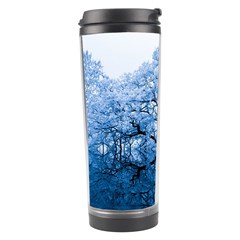 Nature Inspiration Trees Blue Travel Tumbler