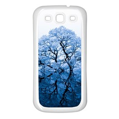 Nature Inspiration Trees Blue Samsung Galaxy S3 Back Case (white)