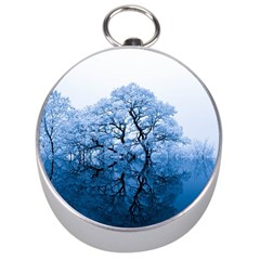 Nature Inspiration Trees Blue Silver Compasses