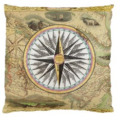 Map Vintage Nautical Collage Large Cushion Case (one Side)