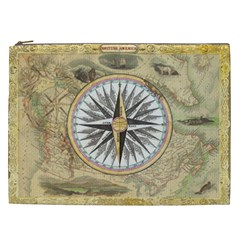 Map Vintage Nautical Collage Cosmetic Bag (xxl)