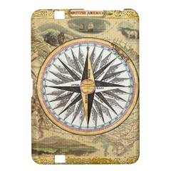 Map Vintage Nautical Collage Kindle Fire Hd 8 9