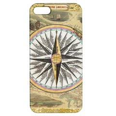 Map Vintage Nautical Collage Apple Iphone 5 Hardshell Case With Stand